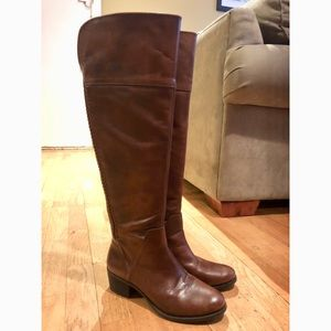 Vince Camuto Over the knee brown leather boots